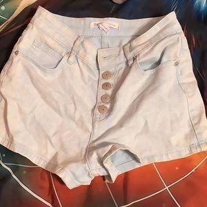 BCBG High Wasted Stone Washed Shorts